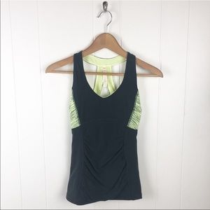 Lucy activewear Fitted gray tank top w/shelf Bra
